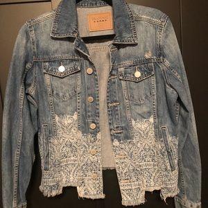 BLANKNYC bleach print denim jacket